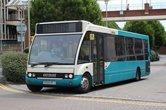 Arriva The Shires . 2463 KE55KPJ . Welwyn Garden City Bus Station , Hertfordshire . Friday 26th-June-2015 . (AndrewHA's) Tags: 6 bus way route solo falcon hertfordshire welwyngardencity arriva optare m950 2463 arrivatheshires ke55kpj