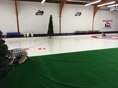"""Adam Setting Up the Aisle at the Chicago Curling Club • <a style=""""font-size:0.8em;"""" href=""""http://www.flickr.com/photos/109120354@N07/19427443416/"""" target=""""_blank"""">View on Flickr</a>"""