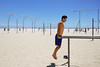 Photo Shoot : Alan (jkc.photos) Tags: california sea shirtless sky man male beach tattoo losangeles sand exercise outdoor santamonica workout fitness caucasian dipbars