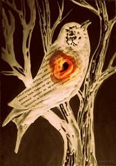 (nidos de estos días y otros robos a enrique lihn) (Felipe Smides) Tags: nido pintura pájaro lihn nidos enriquelihn smides felipesmides