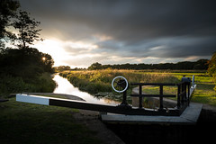 Gardham Lock (Draws_With_Light) Tags: camera longexposure sunset summer water season landscape canal lock structures melbourne places scene filters eastridingofyorkshire pocklingtoncanal canoneos5dmarkiii tse24mmf35lii lee09ndhardgrad leebigstopper triggertrap gardhamlock
