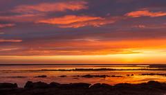 Sunset in Akranes (*Jonina*) Tags: sunset sky reflection clouds iceland 500views ísland 1000views ský himinn akranes speglun sólsetur 25faves jónínaguðrúnóskarsdóttir