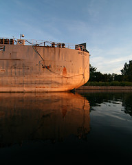 Reflecting Metis (Michael Mitchener) Tags: toronto sunrise paddle canoe nessie shipchannel portlands