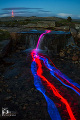 Glow sticks (Nigel Quest Photography) Tags: light water canon painting waterfall sticks long exposure glow 7d dartmoor