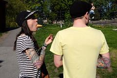beak (yaya13baut) Tags: stockholm sweden sodermalm vitabergsparken youth color colorful tattoo cap street streetphotography streetlife streetphoto streetphotographers streettogs candid fujifilm fuji fujifilmfrance fujix100s fujifilmx100s x100s
