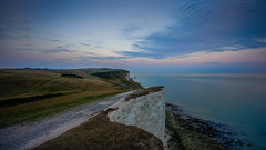 Cliffhanger (TanzPanorama) Tags: england englishcoast cliff rockformation rock tanzpanorama sonya7ii sony fe1635mmf4zaoss sel1635z variotessartfe1635mmf4zaoss nature englishchannel seascape waterscape blue eastsussex travel tourism landscape coast coastline cliffhanger dusk twilight