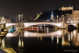 Le pont Bonaparte sur La Saône - Lyon