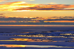 Final rays on the winter landscape (Great Salt Lake Images) Tags: winter sunset ladyfinger antelopeisland greatsaltlake utah