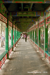 Long Corrridor - 728m - lined by highly decorated and painted beams - Summer Palace Beijng China (WanderingPJB) Tags: china beijing summerpalace imperialgarden unesco worldheritagesite longcorridor beams decorated painted img cmwdgreen colourfulworld