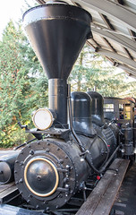 """Peggy,"" a Lima Shay Geared Steam Locomotive (SN 2172) (scattered1) Tags: 1909 2015 2172 center classb ehraim ephraimshay limalocomotiveworks limashay or oregon portland radleyhunter radleyhunterstack shay shopnumber2172 truck washington washingtonpark world worldforestrycenter antique balloon classic engine forestry front geared gearedsteamlocomotive historic history locomotive oil old park powerful rail rugged smokestack stack steam timber train trees wood"
