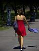 Remember Last Summer (swong95765) Tags: woman dress red walk stroll summer breeze