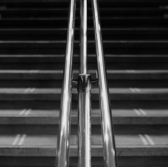 Royal Festival Hall (Andrew Malbon) Tags: architecture interior lines handheld hands handrail bras 3 leica leicam9 m9 rangefinder midcentury modernism modern vintage steps staircase summilux royalfestivalhall southbank london