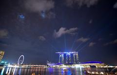 Marina Bay Light Show (Arushad) Tags: arushad singapore travel artscience arushadahmed bay bridge city cityscape dash8x helix lights lightshow marina marinabaysands merlion museum night ocean park people sea skyline