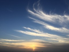 Morning clouds (curiousl) Tags: sky nature morning early clouds blue white sunrise telaviv israel 2017 winter iphone