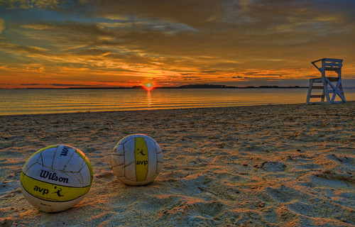 Volleyball Beach Sunrise