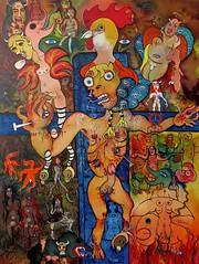 LE RENIEMENT DE PIERRE (Claude Bolduc) Tags: outsiderart artsingulier rawvision rawart intuitiveart visionaryart psyart artbrut lowbrow