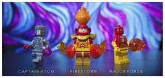 [DC] Nuclear Men (| Jonathan |) Tags: lego dc comics captain atom nathaniel adam firestorm professor stein ronnie raymond major force nuclear men custom superheroes minifigures purist figbarf vibrant color quantum field matrix