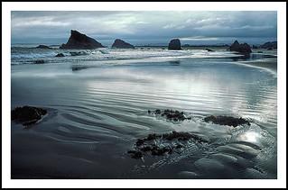 Bandon Beach, Oregon on a Cloudy Morning - 1987