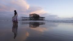 Bone Structures (steve.geliot) Tags: drama period beach low tide sunset pier pastel