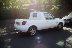 Beryl Fiesta Pick-up (kenjonbro) Tags: england white london ford fiesta pickup 1993 woolwich beryl lx se18 worldcars kenjonbro canonzoomlensef3580mm1456iii 1119cc canoneos5dmkiii k860ukl