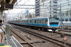 JR E233-1000 series EMU, Akihabara, Tokyo (Johnspics59) Tags: japan train tokyo railway jr jp series akihabara chiyodaku keihintohokuline tkyto e2331000