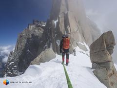 Follow the leader (HendrikMorkel) Tags: mountains alps mountaineering chamonix alpineclimbing arêtedescosmiques arcteryxalpineacademy2015