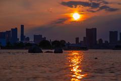 In the Sunset - 屋形船 / Yakata-Bune (Mototaka Tsujima) Tags: sunset sea nature ship blight yakatabune 屋形船 zf2 planart1485