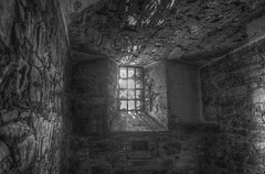 Bodmin Jail Cell Window (B&W) (Rachael Webster UK) Tags: holiday colour june canon high cornwall break dynamic jail range hdr subtle bodmin 2015 650d bodmingaol bodminjail subtlehdr canon650d june2015