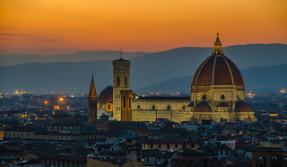 Florence Cathedral at sunset