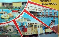 Pontins Blackpool Holiday Camp (trainsandstuff) Tags: vintage postcard retro lytham archival blackpool pontins holidaycamp squiresgate