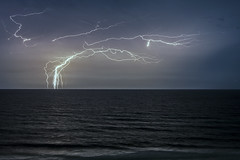 Over the Ocean (lightonthewater) Tags: ocean sky storm gulfofmexico waves thunderstorm lightning pensacolaflorida lightonthewater