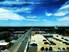 Oak Lawn, IL - Illinois Tilt Shift Miniature (RickDrew) Tags: road street sky photoshop hospital illinois fake il busy oaklawn tiltshift psudo
