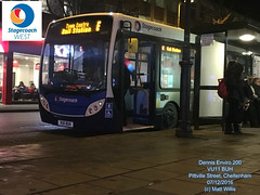 STAGECOACH WEST CHELTENHAM DENNIS ENVIRO 200 VU11 BUH PITTVILLE STREET 07122016 (MATT WILLIS VIDEO PRODUCTIONS) Tags: stagecoach west cheltenham dennis enviro 200 vu11 buh pittville street 07122016