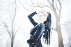 DSC_1640 (shoottofill) Tags: red model snowqueen snow snowstorm snowflake fashion