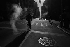 Broadway NYC (Stefano-Bosso) Tags: broadway bicycle stefanobosso street streetphotography niretblanc love canon manhattan blackandwhite people smoke city landscape mono monochrome bnw