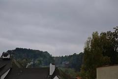 Roof Tops in Rožmberk Nad Vltavou (smilla4) Tags: sky clouds rozmberknadvltavou czechrepublic smoke