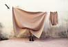 (LaSandra.) Tags: sandralazzarini beige palette legs wall panni clothes blanket girl muro faceless selportrait olympus undercover