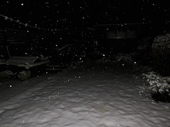 It's Snowing (Explored) (Paul Hillman. I'll be back soon.) Tags: snow snowing night nighttime dark