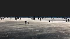 Fading black (Nicola Pezzoli) Tags: lago endine lake ice winter cold bergamo lombardia italy tourism colors monasterolo black fade silhouette sunset light