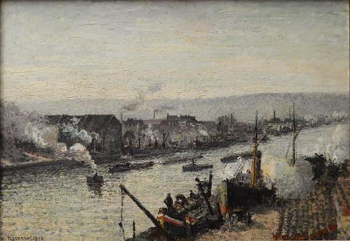 PISSARRO Camille,1896 - Port de Rouen, St-Sever (Orsay) - 0