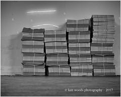 2017_365-25 - Stacked (Kenny Boy1) Tags: newspaper eveningstandard londonbridge commute mono blackandwhite 365 january 2017