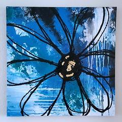 "daisy (Birgit.Riemann) Tags: ""birgit riemann"" art kunst galarie blume flower painting paint gemälde blau acryl acrylbild arcrylic acrylart modernart leinwand canvas malerei ""mix media"" birgit riemann pastell heiter hell daisy frühling"