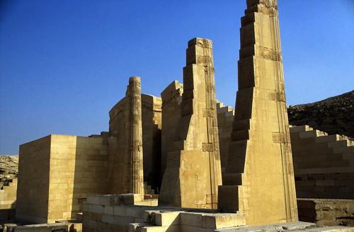 """Ägypten 1999 (579) Kairo: Tempel """"T"""", Sakkara"""