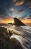 Liguria winter sunset (Gian Paolo Chiesi) Tags: sun voigtlander sunset italy seascape sony waterscape rocks