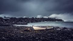 IMG_5719_redwm (Eivind Nielsen) Tags: storm urd landscape sea molo båt boat coast ferkingstad karmøy
