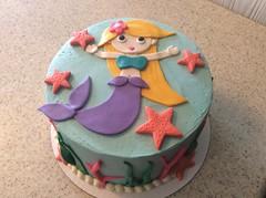 Blonde Mermaid Birthday Cake (Delicately Delicious) Tags: cakes cake birthday mermaid