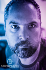 [1.365] A New Beginning (Rich Jankowski) Tags: 1365 canon5dmkii ef2470mmf28lusm photoaday2017 photoaday 2017 365 5d2 beard blue canon eyes face magenta male moustache portrait