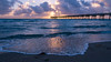 Dania Beach Sunrise (Adam's Attempt (at a good photo)) Tags: daniabeachfl sunrise florida atlanticocean atlantic water waves clouds cloudy pier reflection reflections nikon d500 nikkor 18200mm lightroom lr5 sand ocean oceansunrise morning earlymorning