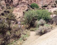 018 A Control Is Found (saschmitz_earthlink_net) Tags: 2017 california orienteering vasquezrocks aguadulce losangelescounty laoc losangelesorienteeringclub