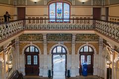Dunedin Railway Station Entrance Hall from Above (I) (deltics) Tags: trainstation dunedin interior southisland architecture hdr windows newzealand nz buildings otago